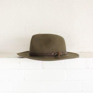 58deed82eac Dorfman Pacific Accessories - Vintage Dorfman Pacific Felt Wool Hat Olive  Green